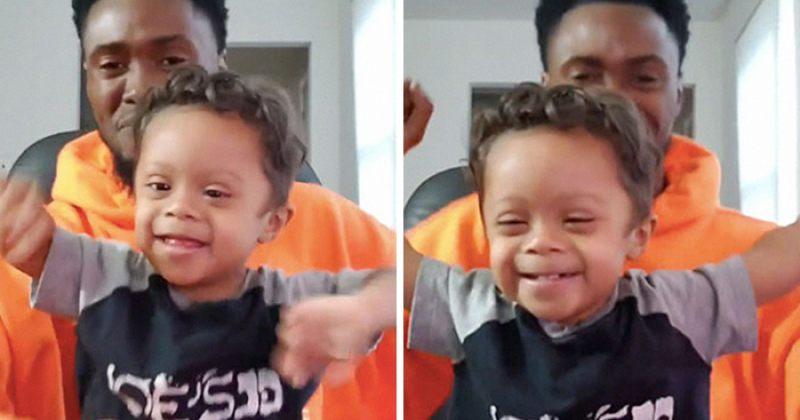 ბავშვი ლეიკემიისგან განკურნებას მამასთან ერთად ცეკვით აღნიშნავს - ვიდეო