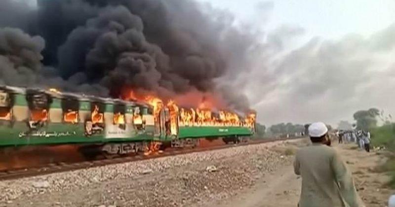 პაკისტანში მატარებელს ცეცხლი გაუჩნდა, დაიღუპა 74, დაშავდა 40 მგზავრი