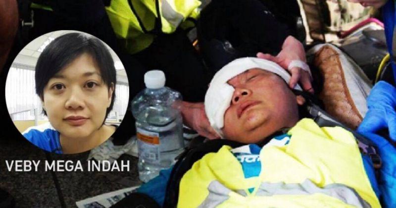 ჰონგ-კონგში ინდონეზიელმა ჟურნალისტმა რეზინის ტყვიისგან ცალ თვალში მხედველობა დაკარგა
