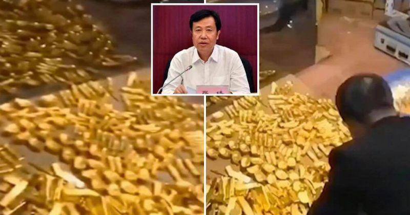 ჩინელი მაღალჩინოსნის სახლში 13.5 ტონა ოქრო, 37 მილიარდი დოლარი ქრთამი აღმოაჩინეს [VIDEO]