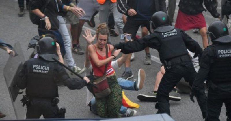 ბარსელონაში კატალონიის დამოუკიდებლობის მომხრეებსა და პოლიციას შორის დაპირისპირება მოხდა