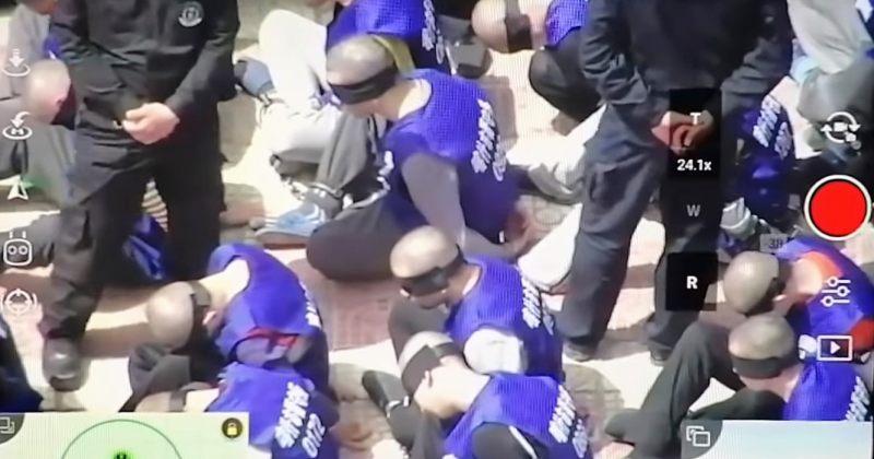 გავრცელდა ვიდეო, რომელიც, სავარაუდოდ, სინძიანში თვალახვეულ უიღურ პატიმრებს ასახავს