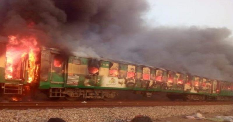 პაკისტანში, მატარებელში გაჩენილ ხანძარს, სულ მცირე, 46 ადამიანი ემსხვერპლა
