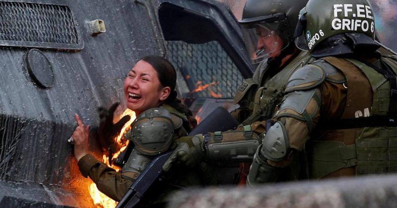 ჩილეში მომიტინგეებმა სამართალდამცავებს ე.წ. მოლოტოვის კოქტეილები ესროლეს