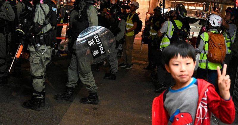ჰონგ-კონგის აქციებში მონაწილე 12 წლის ბავშვს ბრალი წარუდგინეს