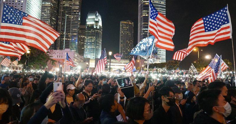 ჰონგ-კონგში აშშ-ის მიერ ჰონგ-კონგის ადამიანის უფლებების&დემოკრატიის კანონის მიღება აღნიშნეს