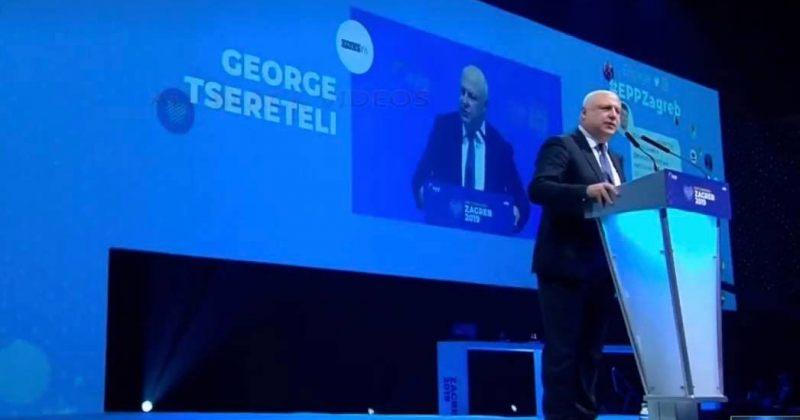 გიგი წერეთელმა EPP-ის კონგრესზე მცოცავ ოკუპაციასა და ვაჟა გაფრინდაშვილზე ისაუბრა