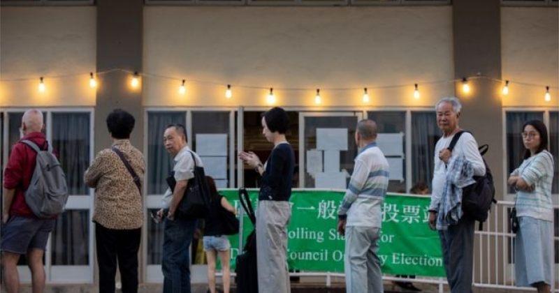 ჰონგ-კონგში საოლქო საბჭოების არჩევნებში რეკორდული აქტივობა დაფიქსირდა