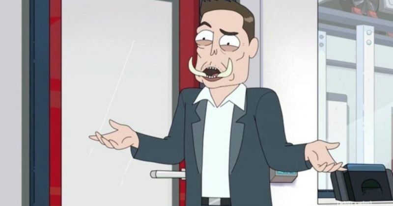 ილონ მასკი ანიმაციურ სერიალში Rick and Morty გამოჩნდა