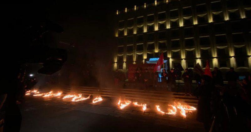 """""""გაბედე ბრძოლა სიცოცხლისთვის""""-აქტივისტებმა მთავრობის ადმინისტრაციასთან აქცია გამართეს"""