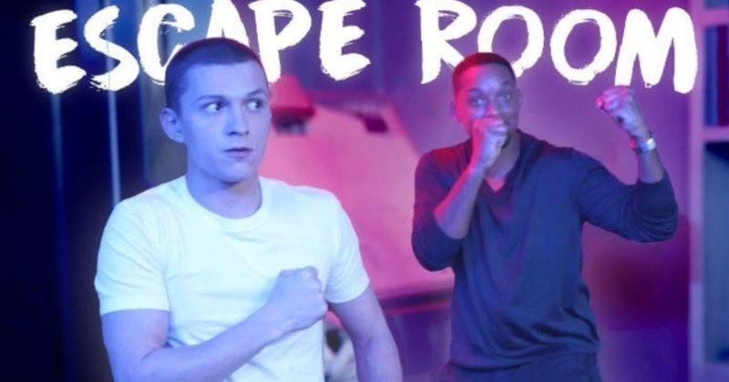 ტომ ჰოლანდი და უილ სმიტი Escape Room-ს თამაშობენ (ვიდეო)