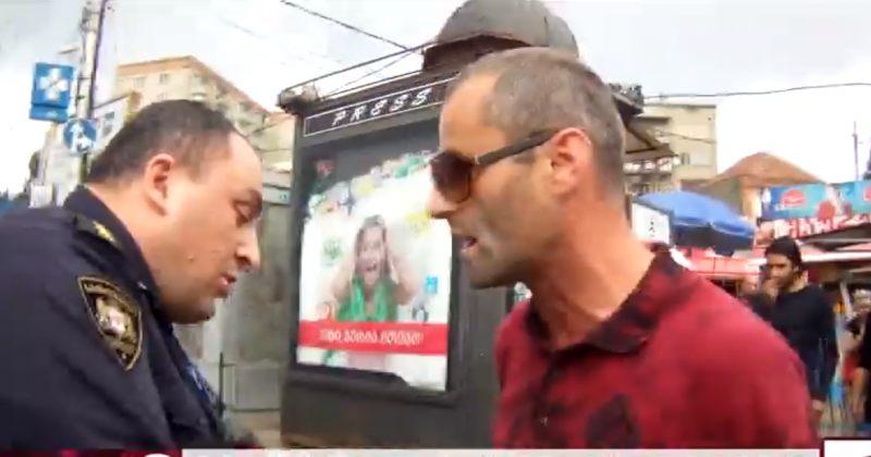 ლევან იზორიას ძმის დაკავება და გათავისუფლება ჩარევის შემდეგ - მთავარი არხის ვიდეო