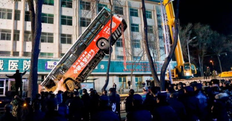 ჩინეთში, ქალაქ სინინგში, გზის ჩანგრევის შედეგად 6 ადამიანი დაიღუპა