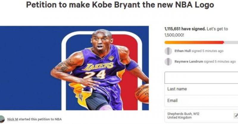 პეტიციას, რომელიც NBA-ს ლოგოზე ბრაიანტის გამოსახვას ითხოვს, მილიონზე მეტი ხელმომწერი ჰყავს