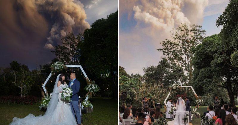 ფილიპინებში ვულკან ტაალის ამოფრქვევისას წყვილი დაქორწინდა