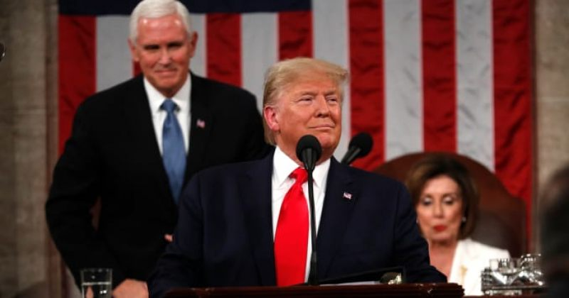 ტრამპის გამოსვლა კონგრესში: ამერიკის მტრები გარბიან, სიმდიდრე იზრდება, მომავალი კი კაშკაშაა