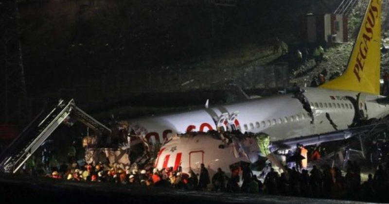 სტამბოლში Pegasus-ის თვითმფრინავი ასაფრენ ბილიკს გაცდა, დაიღუპა 3, დაშავდა 170 ადამიანი