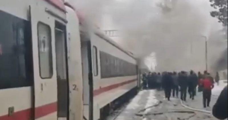 აბაშაში ზუგდიდი-თბილისის მატარებელს ცეცხლი გაუჩნდა