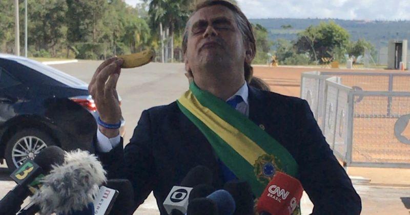 ბრაზილიის პრეზიდენტმა მოსახლეობასთან და ჟურნალისტებთან შესახვედრად პაროდისტი გაგზავნა [Video]