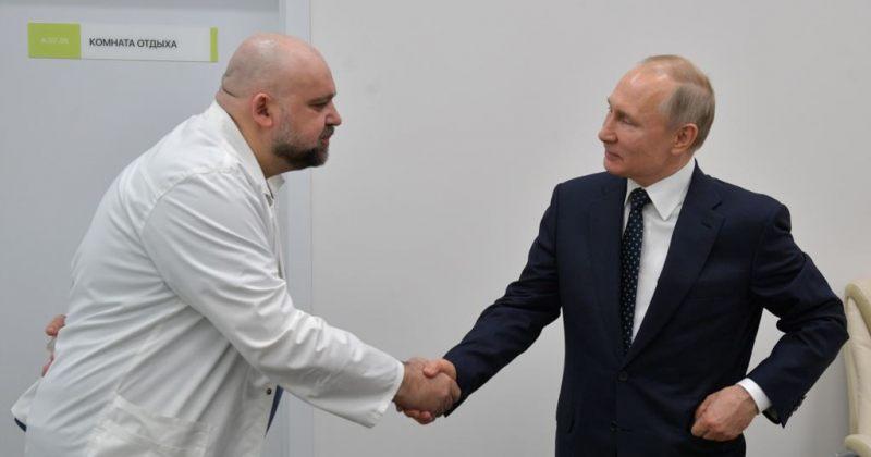 რუსეთში ექიმს, რომელიც გასულ კვირას პუტინს შეხვდა, Covid-19 დაუდგინდა