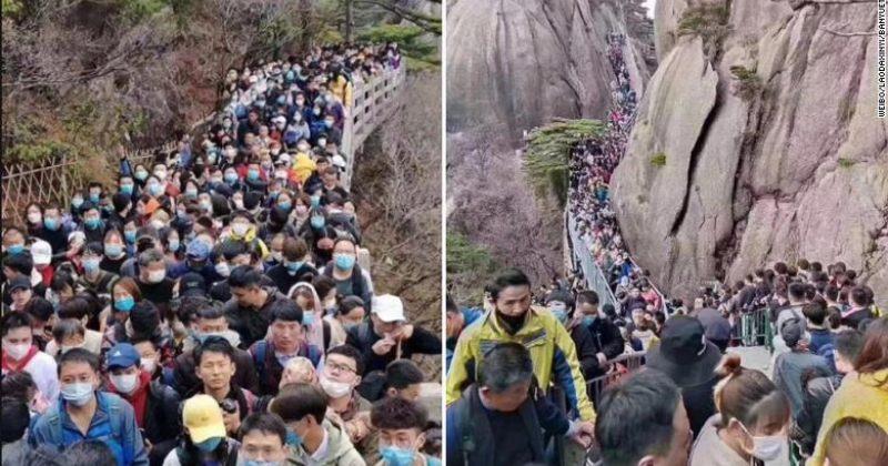 შეზღუდვების მოხსნის შემდეგ ჩინეთის ტურისტულ ადგილებში კვლავ ხალხმრავლობაა