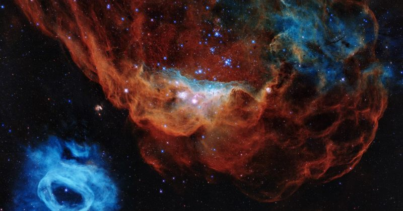 Hubble-მა კოსმოსში 30 წლის იუბილეზე ვარსკვლავის ფორმირების ადგილის სურათი გამოაქვეყნა