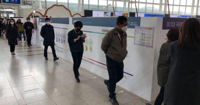 კორონავირუსის მიუხედავად სამხრეთ კორეაში ეროვნული ასამბლეის არჩევნები ტარდება