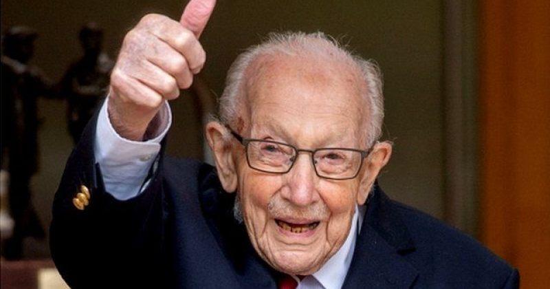 ომის ვეტერანი, რომელმაც ჯანდაცვის სამსახურებისთვის 37$ მლნ. შეაგროვა, 100 წლის გახდა