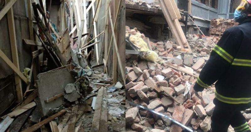 ლერმონტოვის ქუჩაზე ავარიული შენობის დემონტაჟის დროს ნანგრევებში 3 მუშა მოყვა