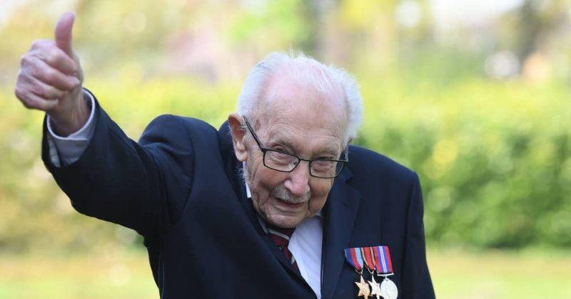 99 წლის ვეტერანი, ტომ მური ბრიტანული ჩარტების სათავეშია