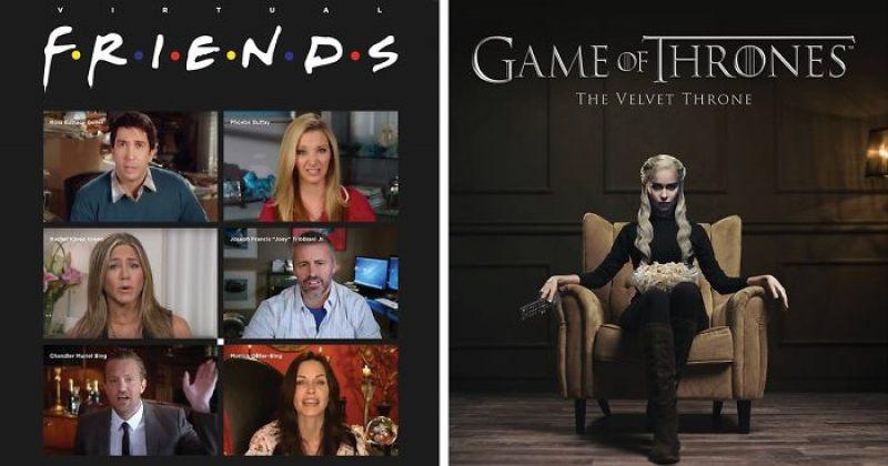 არტისტმა პოპულარული სერიალების პოსტერები დღევანდელ რეალობას მოარგო - ფოტოები