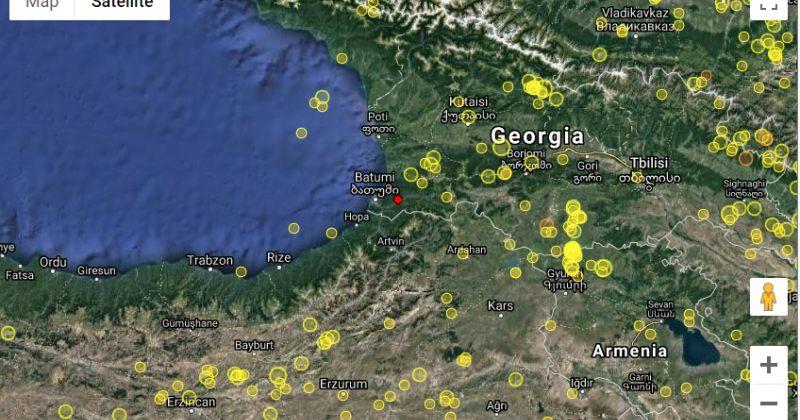 მაღალმთიან აჭარაში, დაბა ქედასთან 3.9 მაგნიტუდის მიწისძვრა მოხდა