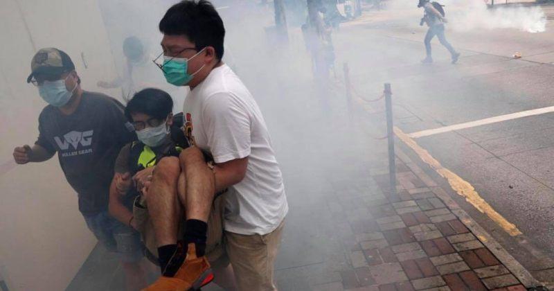 ჰონგ-კონგში ჩინეთის ახალი კანონპროექტების საპროტესტო აქციას ცრემლსადენი გაზით შლიან [VIDEO]
