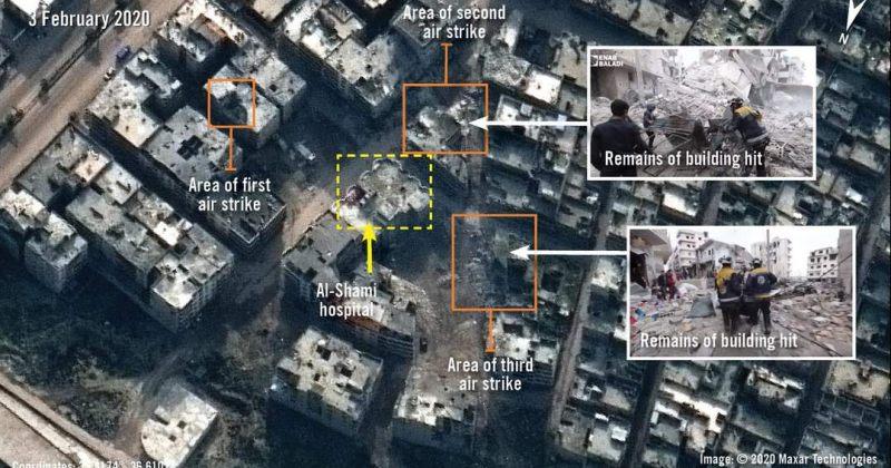Amnesty International: სირიაში რუსეთი და ასადი განზრახ ბომბავენ სკოლებს და საავადმყოფოებს
