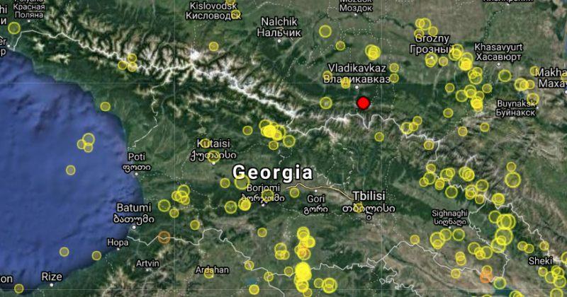 საქართველოს საზღვრიდან 7 კილომეტრში 3.9 მაგნიტუდის მიწისძვრა მოხდა