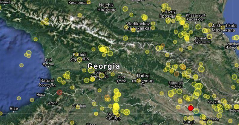 აზერბაიჯანში, საქართველოს საზღვრიდან 5 კილომეტრში, 4.3 მაგნიტუდის მიწისძვრა მოხდა