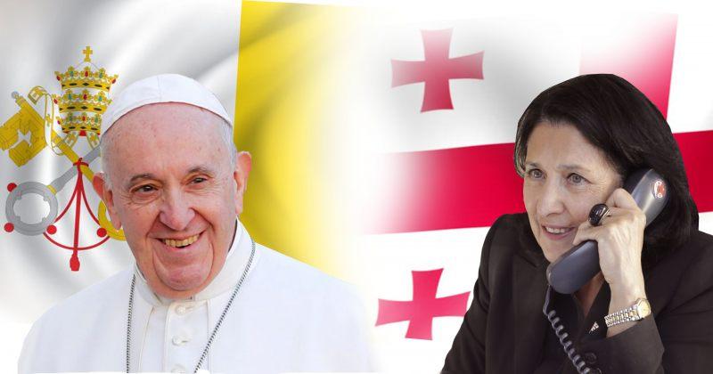 ადმინისტრაცია: რომის პაპმა სალომე ზურაბიშვილს აღუთქვა, რომ ილოცებს საქართველოსთვის