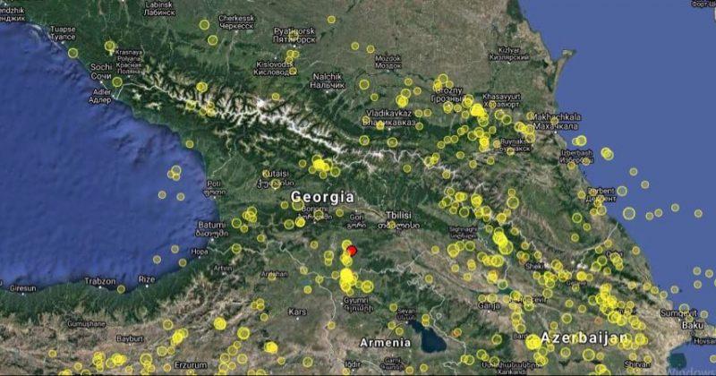 საქართველოში დმანისთან 3.3 მაგნიტუდის მიწისძვრა მოხდა