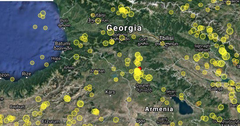 საქართველოს საზღვრიდან 2 კილომეტრში 3.1 მაგნიტუდის მიწისძვრა მოხდა