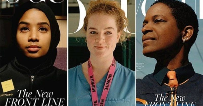 გამომცემლობის VOGUE გარეკანზე პანდემიასთან მებრძოლი სამი ქალი მოხვდება