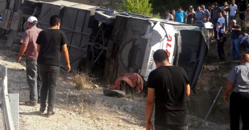თურქეთში ავტობუსის გადატრიალების შედეგად 5 ჯარისკაცი და მძღოლი დაიღუპნენ