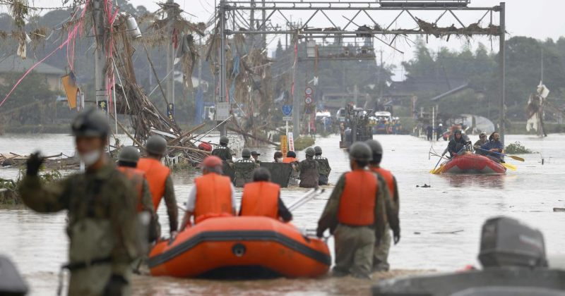 იაპონიაში წყალდიდობას 21 ადამიანი ემსხვერპლა