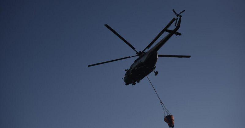 მესტიის მუნიციპალიტეტის სოფელ ხაიშთან ხანძრის ჩასაქრობად ვერტმფრენი გაგზავნეს