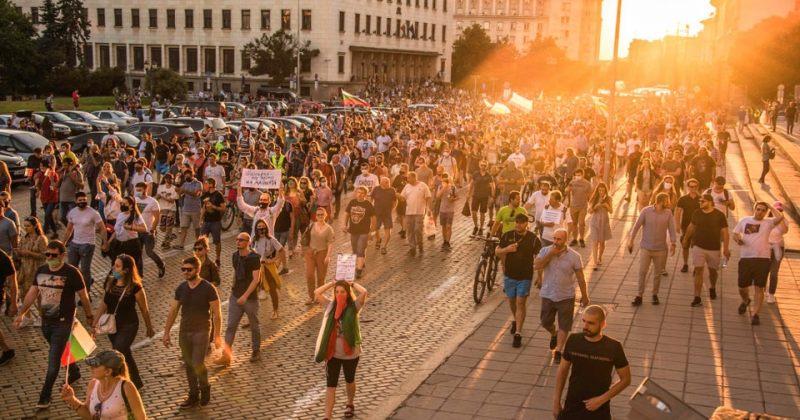 ბულგარეთში ათასობით მომიტინგე კორუფციას აპროტესტებს, მთავრობის გადადგომას ითხოვს