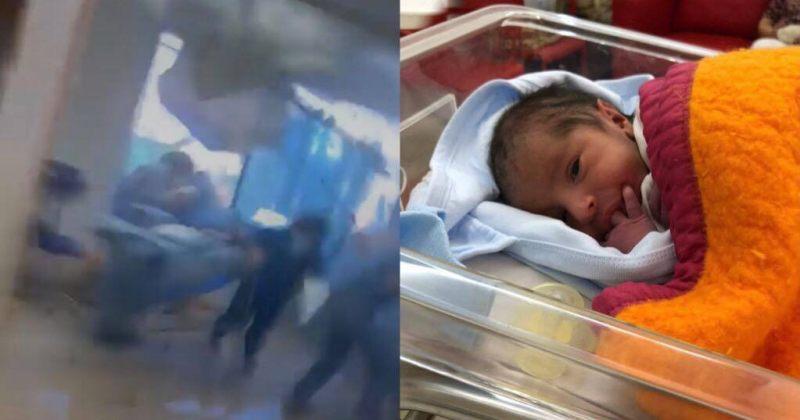 ბეირუთში აფეთქების შემდეგ ქალმა საავადმყოფოში მალევე იმშობიარა [VIDEO]