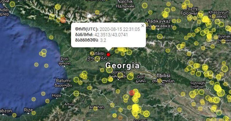 საქართველოში 3.3 მაგნიტუდის მიწისძვრა მოხდა