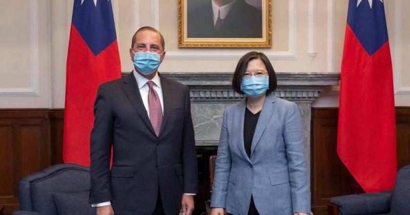 აშშ-ს ჯანმრთელობის მდივანი ტაივანში პრეზიდენტ ცაი ინგ-ვენს შეხვდა
