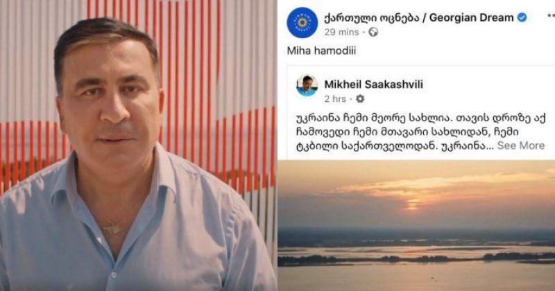 ქართული ოცნება სააკაშვილის ვიდეოზე: Miha Hamodiii