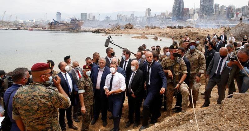 მაკრონი ლიბანელ ხალხს: დახმარება კორუმპირებულთა ხელებში არ წავა