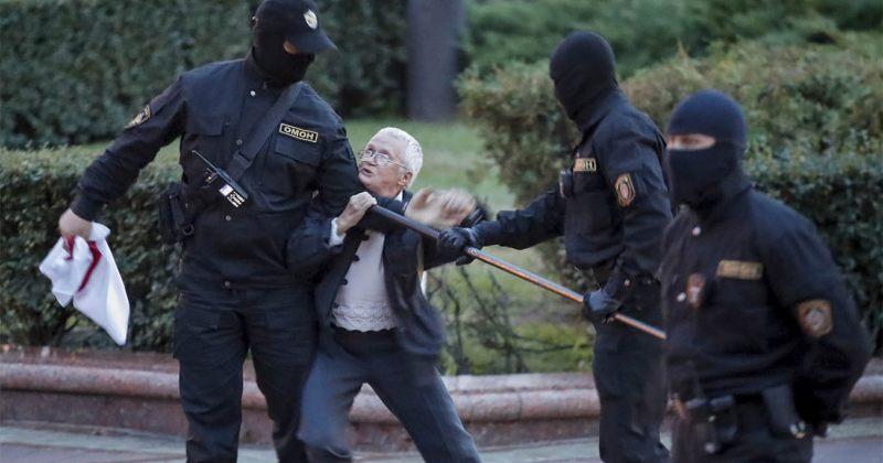 ბელარუსში 263 მომიტინგე და 17 ჟურნალისტი დააკავეს